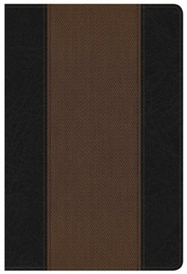 NKJV Summary Bible, Black and Brown LeatherTouch  -