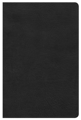 HCSB Ultrathin Reference Bible, Black LeatherTouch  -