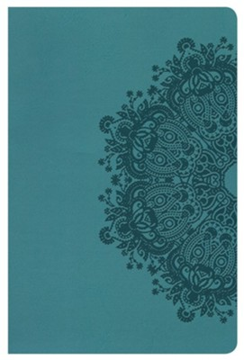 HCSB Ultrathin Reference Bible, Teal LeatherTouch  -