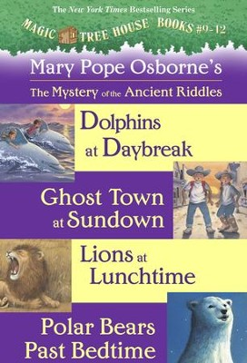 Magic Tree House: Books 9-12 Ebook Collection: Mystery of the Ancient Riddles / Combined volume - eBook  -     By: Mary Pope Osborne     Illustrated By: Sal Murdocca
