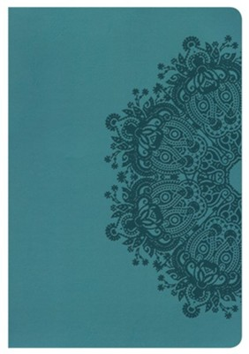 NKJV Giant Print Reference Bible, Teal LeatherTouch  -