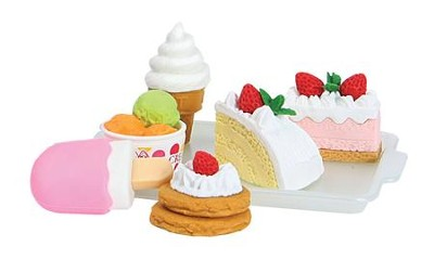 Cake and Ice Cream Erasers   -