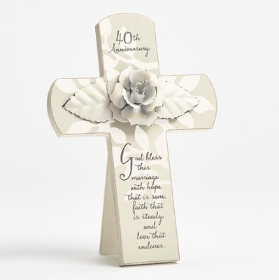 40th Anniversary Cross, God Bless This Marriage  -     By: Kim Lawrence