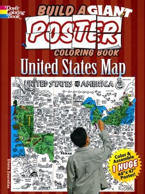 Build a Giant Poster Coloring Book-United States Map  -     By: Diana Zourelias