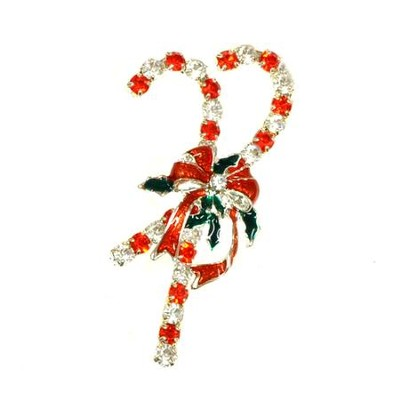 Candy Cane Christmas Pin   -