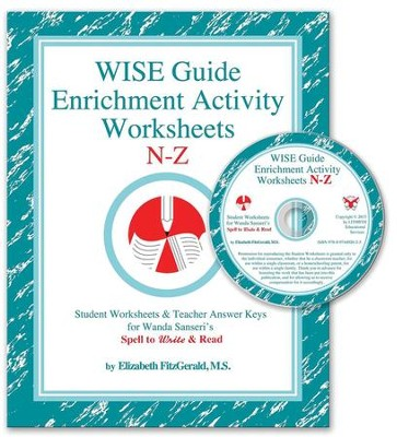 WISE Guide Enrichment Activity Worksheets, N-Z   -     By: Elizabeth FitzGerald