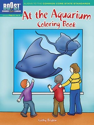 At the Aquarium Coloring Book  -     By: Cathy Beylon
