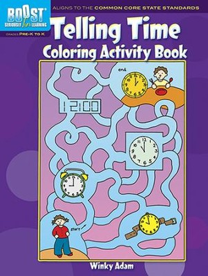 Telling Time Coloring Activity Book  -     By: Winky Adam