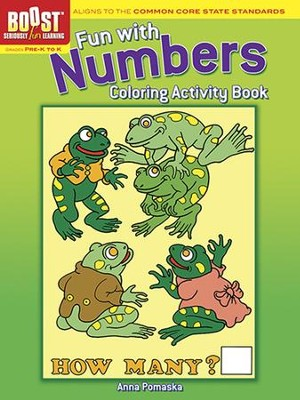 Fun with Numbers Coloring Activity Book  -     By: Anna Pomaska