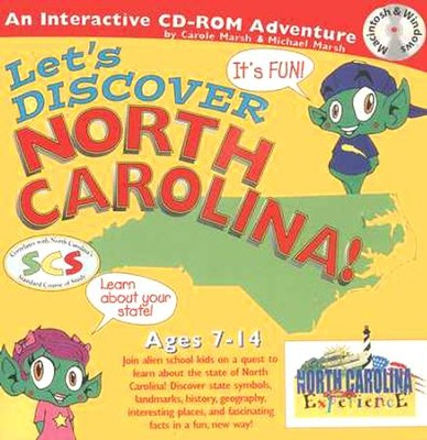 Let's Discover North Carolina CD-ROM, Grades 2-8   -     By: Carole Marsh