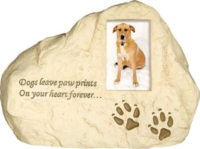Dog Paw Prints, Rock Dog Urn  -
