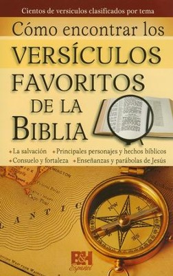 Como Encontrar los Versiculos Favoritos de la Biblia, Pamfleto  (Where to Find Favorite Bible Verses Pamphlet)  -