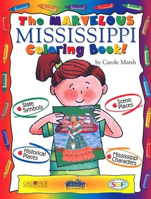 Mississippi Coloring Book, Grades PreK-3  -     By: Carole Marsh