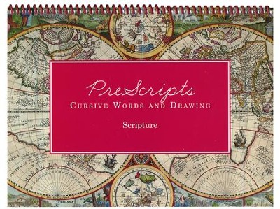 PreScripts Cursive Words and Drawing: Scripture  -