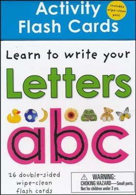 Wipe Clean: Activity Flash Cards: Learn to write your Letters  -     By: Roger Priddy