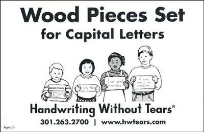 Wood Pieces Set for Capital Letters--Preschool to Grade K  -