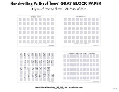 Gray Block Paper, 105 Sheets--Grades PreK-K5.    -