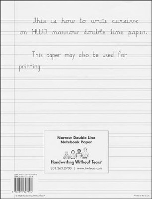 Narrow Notebook Paper (500 Sheets; Grades 4+)   -