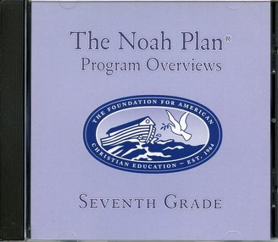 The Noah Plan Program Overviews Seventh Grade on CD   -     By: Rosemarie Ricciardi, Barbara Keller, Carole Adams