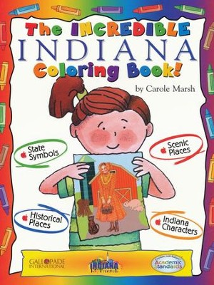 Indiana Coloring Book, Grades PreK-3  -     By: Carole Marsh