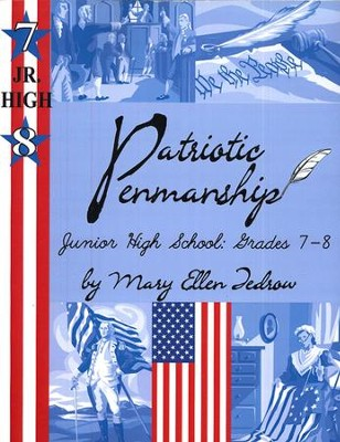 Patriotic Penmanship Grade Jr. High (7/8)  -     By: Mary Ellen Tedrow