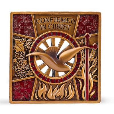 Confirmed In Christ, Dove Plaque  -