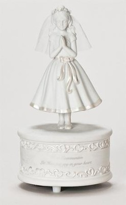 Communion Girl Musical Figurine  -