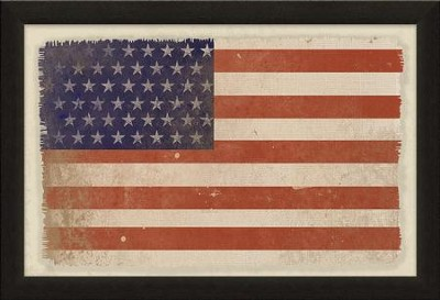 American Flag, Canvas Framed Art  -