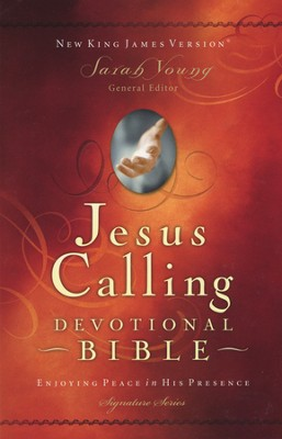 NKJV Jesus Calling Devotional Bible, Imitation Leather Burgundy   -     Edited By: Sarah Young