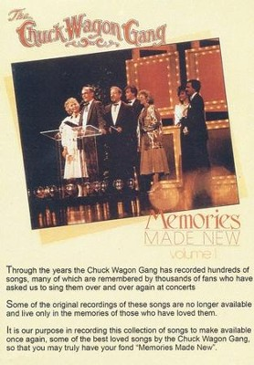 Memories Made New, Volume 1, DVD   -     By: The Chuck Wagon Gang