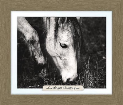 Love, Strength, Beauty & Grace, Horse Farm, Framed Art  -