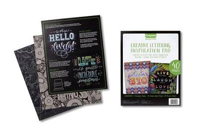 Crayola, Creative Lettering Inspiration Pad  -