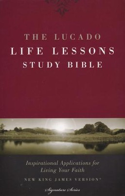 The NKJV Lucado Life Lessons Study Bible, soft leather-look, black  -     By: Max Lucado