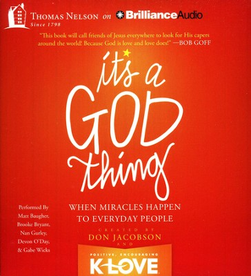 It's A God Thing: When Miracles Happen to Everyday People - unabridged audiobook on CD  -     By: Don Jacobson