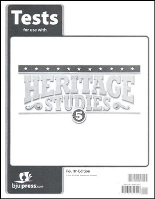BJU Heritage Studies Grade 5 Tests Packet (Fourth Edition)  -