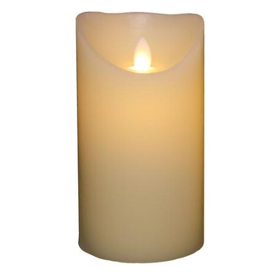 Flameless LED Candle, Ivory, 6 Inches  -