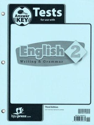 English Grade 2 Tests Answer Key (3rd Edition)   -
