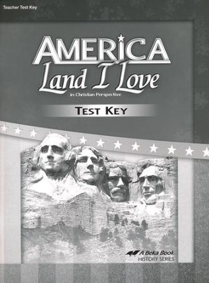 Abeka America: Land I Love Tests Key (Updated Edition)  -