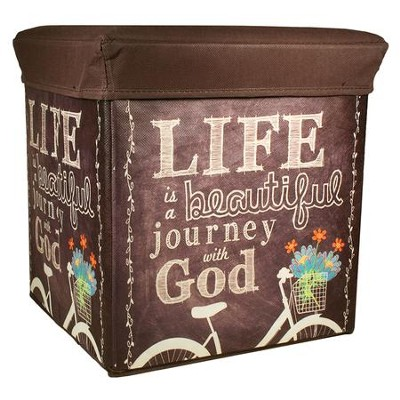 Journey with God Collapsible Storage Box  -