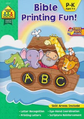 Bible Printing Fun! Ages 4-6   -