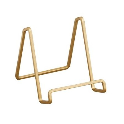 Square Wire Stand, Gold, 3 Inches  -
