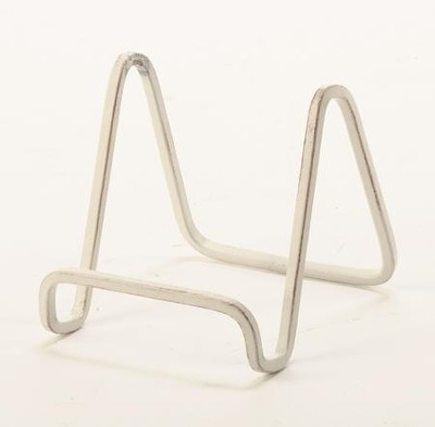 Wire Stand 4 In. Antique White Metal Sq