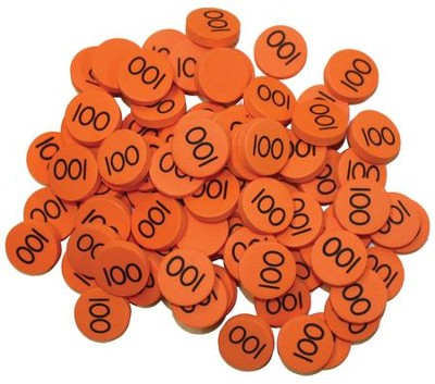 Singapore Math Place Value Disks - Hundreds (100 Disks)  -