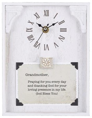 Grandmother, Praying for You Every Day, Tabletop Clock  -     By: Lea Metts