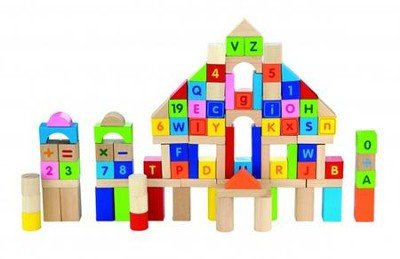 Block Set, Letters & Numbers  -
