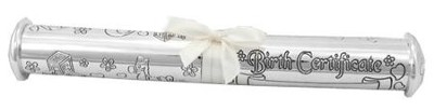Birth Certificate Holder, Silver  -