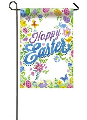 Happy Easter Suede Flag, Small  -