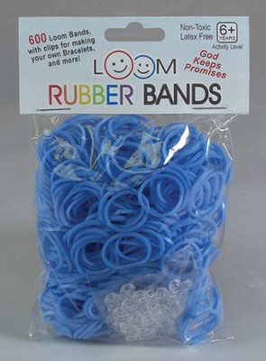 Loom Rubber Bands, 600 Pieces, Blue  -