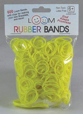 Loom Rubber Bands, 600 Pieces, Yellow  -