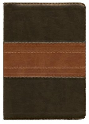 ESV Study Bible, TruTone, Forest/Tan Trail Design - Imperfectly Imprinted Bibles  -